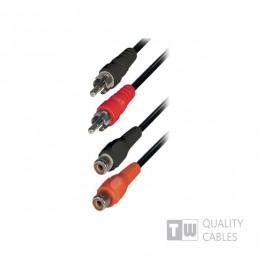 TrustWire Audio Cable 2x RCA male - 2x RCA female 1.5m (11702)